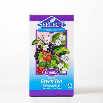 Spice Berry Green Tea Loose Leaf, Organic