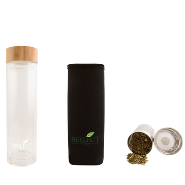 Double Wall Glass Tumbler with Stainless Steel Infuser